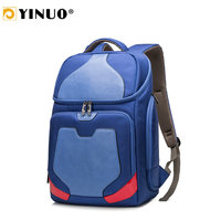 YINUO Multifunction Men Backpack 14inch 15inch 17inch Laptop Backpack Waterproof Fashion Motor Design Travel Bag