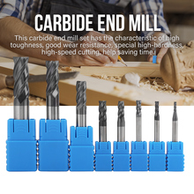 8pcs 2-12mm 4 Flutes Carbide End Mill Set Tungsten Steel Milling Cutter Tool Kit herramientas 5pcs lot d16 0mmx45mmx100mm 4 flutes flat 100% tungsten solide carbide end mill tool grinder for cnc milling
