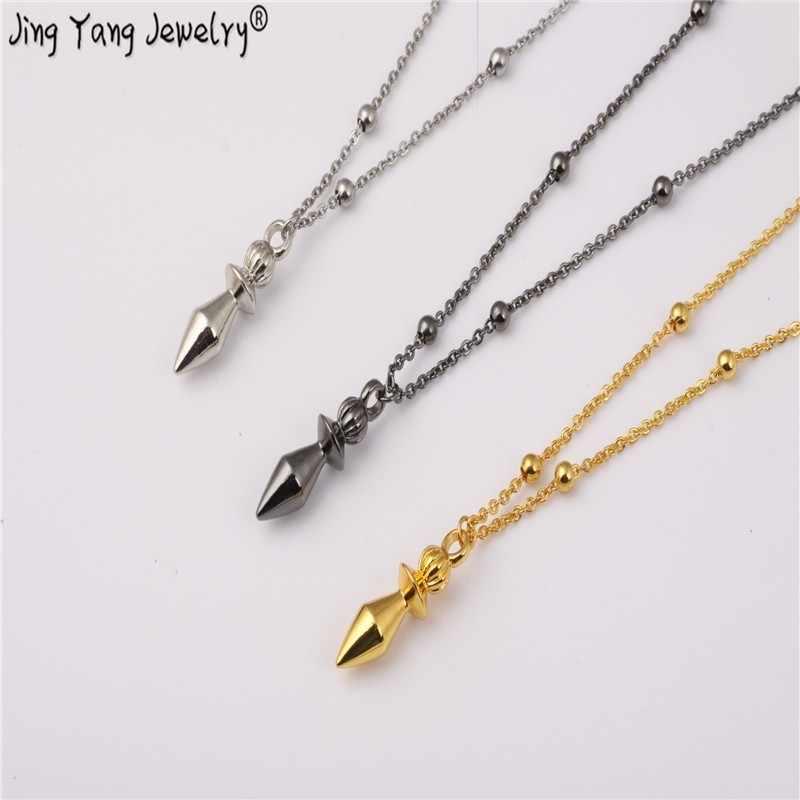 Jingyang маятник рейки медная чакра гармония маятники для дюбинга розовое золото Европейский модный с цепочкой ожерелье чакра