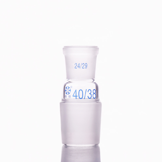 Borosilicate Glass Joint,Female 24/29,Male 40/38,Glass reducing Adapter,A type connector