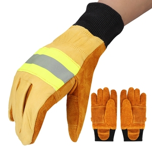 Image 3 - Working Gloves Welding Gloves Anti steam Safety Gloves Pair of Cow Leather Gloves Fireproof Heat Resistant Safety Working Gloves