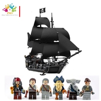 LEPIN 16006 804pcs building brocks Pirates of the Caribbean Black Pearl Ship model Toys For Children Compatible Legoing 4184