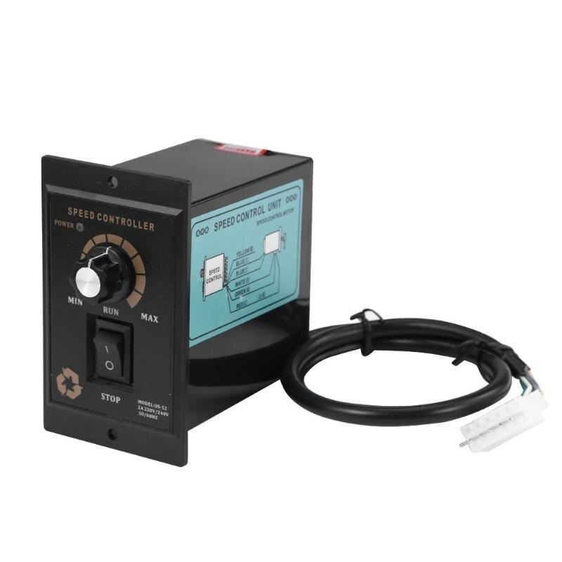 1pc 400 w ac 220 v 50/60 hz controlador de velocidade do motor regulador pontual para a frente e para trás controlador do motor
