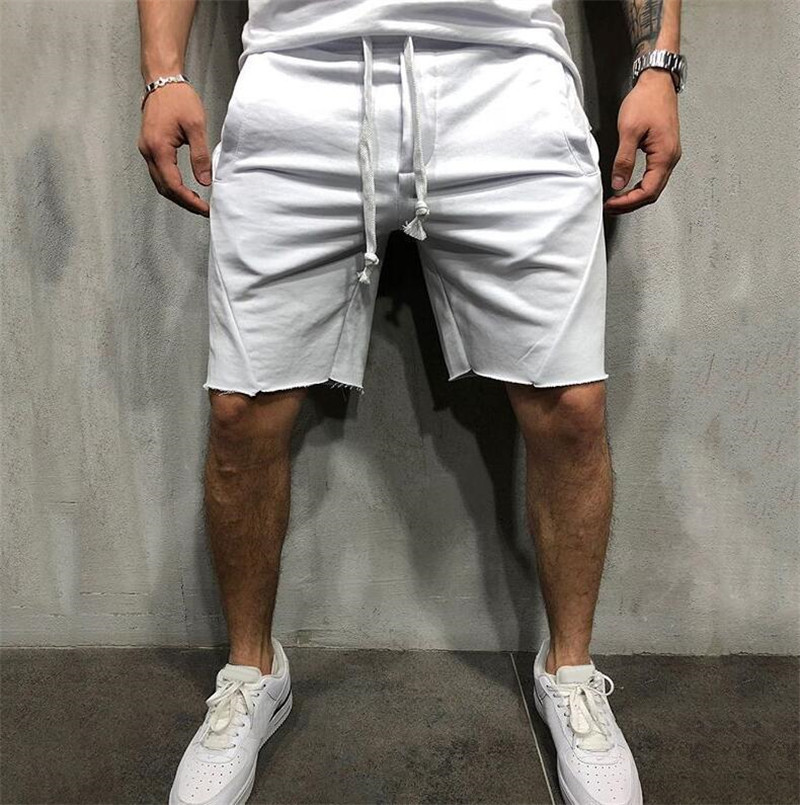 Cross-Border For Men's Pure-Color Running Shorts Leisure Sports Training In European And American Fitness Pants