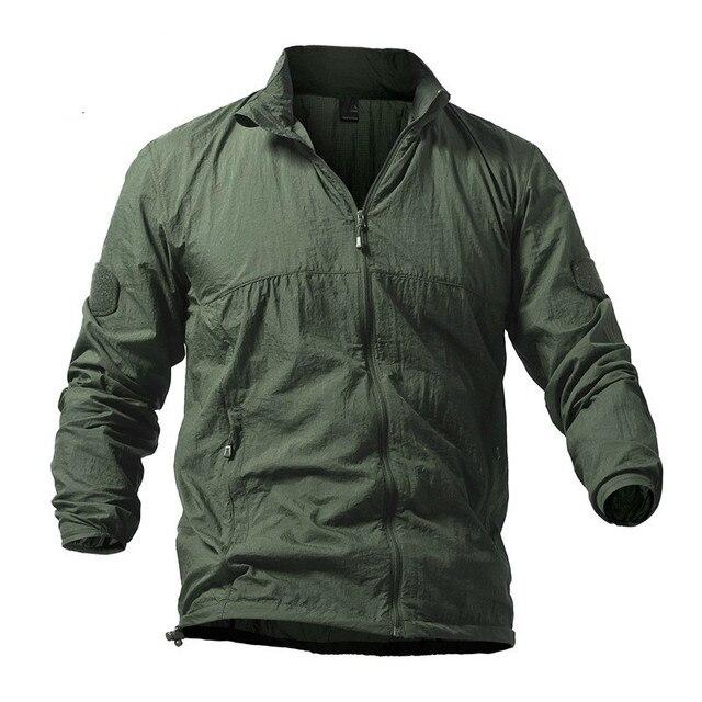 Men Outdoor Sport Quick Dry Hiking Camping Jacket Waterproof Sun&UV Protection Coats Skin Jackets Summer Rain Thin Jackets