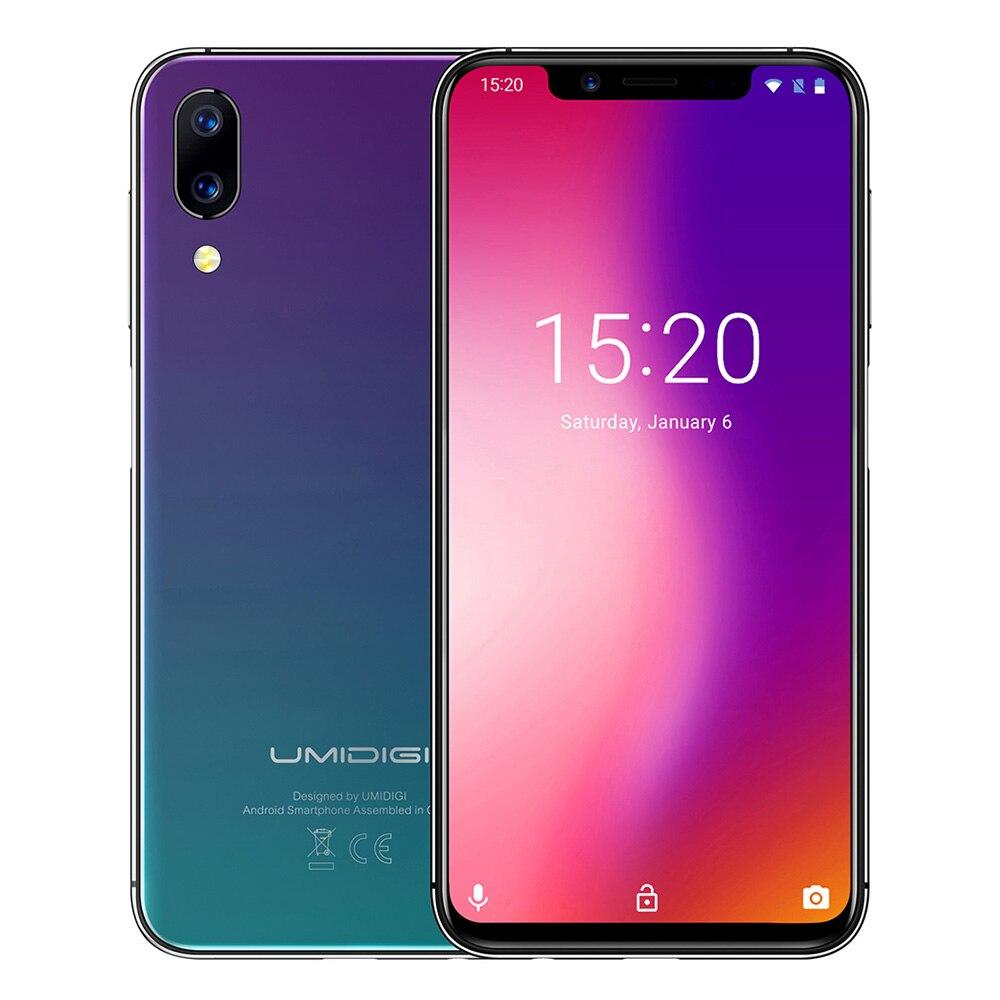 UMIDIGI Um 4 Smartphone 5.86G polegada Android 8.1 Octa Núcleo MTK6763 12MP 32 4 GB RAM GB ROM + 5.0MP Back-câmera Cara Desbloquear Celular