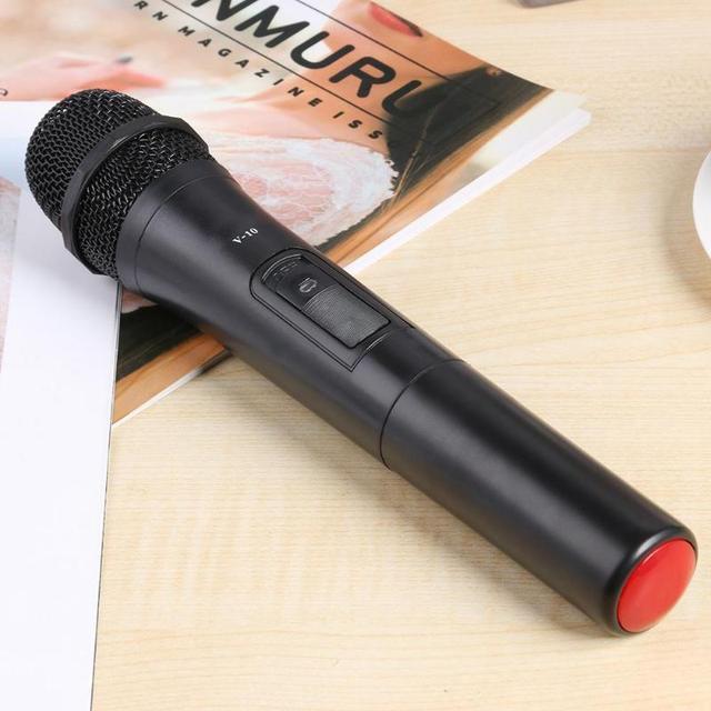V 10 Karaoke Microfono Senza Fili Microfono Palmare con Ricevitore USB per la Registrazione In Studio Microfono Universale Per Uso Domestico Megafono per il Partito