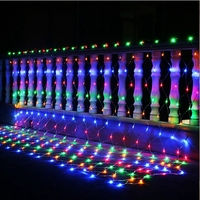 Christmas Garlands 4mx6m Led String Net Lights Fairy Xmas Party Garden Wedding Decoration Outdoor Waterproof Curtain Lights Rgb
