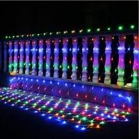 Christmas Garlands 4mx6m Led String Net Lights Fairy Xmas Party Garden Wedding Decoration Outdoor Waterproof Curtain Lights Rgb