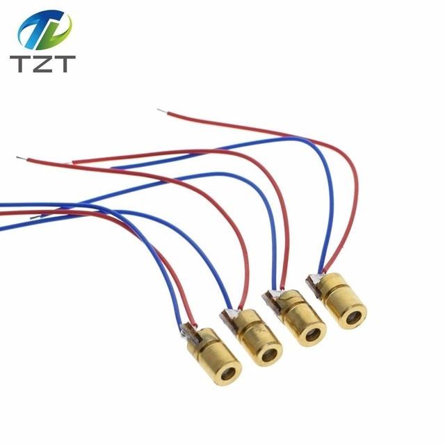 10 יחידות 5 mw לייזר דיודות עבור Arduino 5 v 5 mw 650nm Diodo נקודה אדומה לייזר דיודה מעגל 5 v 5 mw 650nm מודול מצביע Sight נחושת ראש