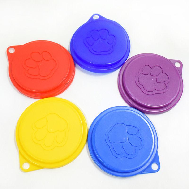 5pcs Tin Lids Dog Cat Pet Food Can Covers Standard Sized Plastic Bowel Seal Lid