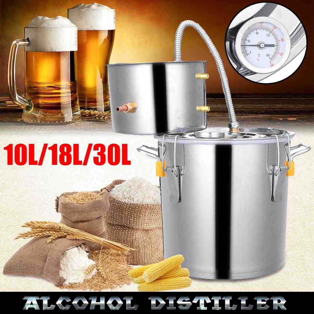 10L/18L/30L Wine Beer Alcohol Distiller Moonshine Alcohol Home DIY Brewing Kit  Home Distiller Stainless Distiller Equipment