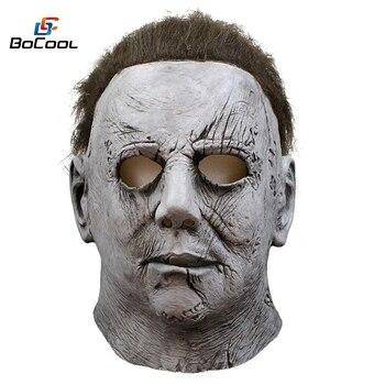 2018 Film Cadılar Bayramı Korku Michael Myers Maskesi Karnaval Cosplay Yetişkin Lateks Tam Yüz Kask Cadılar Bayramı Partisi Korkunç Sahne