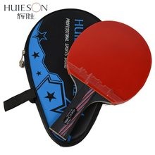 Huieson Hybrid Carbon Fiber Table Tennis Racket Blade Rubber Ping Pong Rackets Double Face Pimples-in Blade for Senior Players(China)