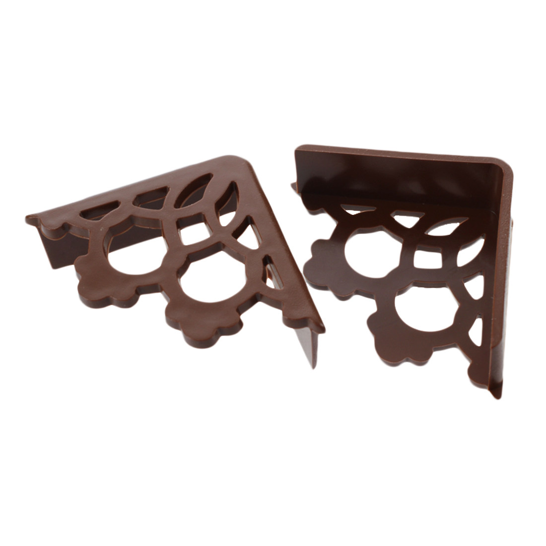 4 Pcs. Furniture Rubber Hollowed Design Table Desk Corner Upholstery, Coffee