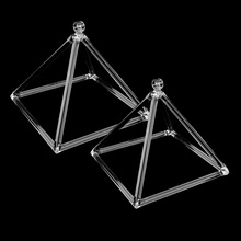 2PCS Quartz Crystal Singing Pyramid C Note Root Chakra for Relaxation Sound 6inch 8inch недорого