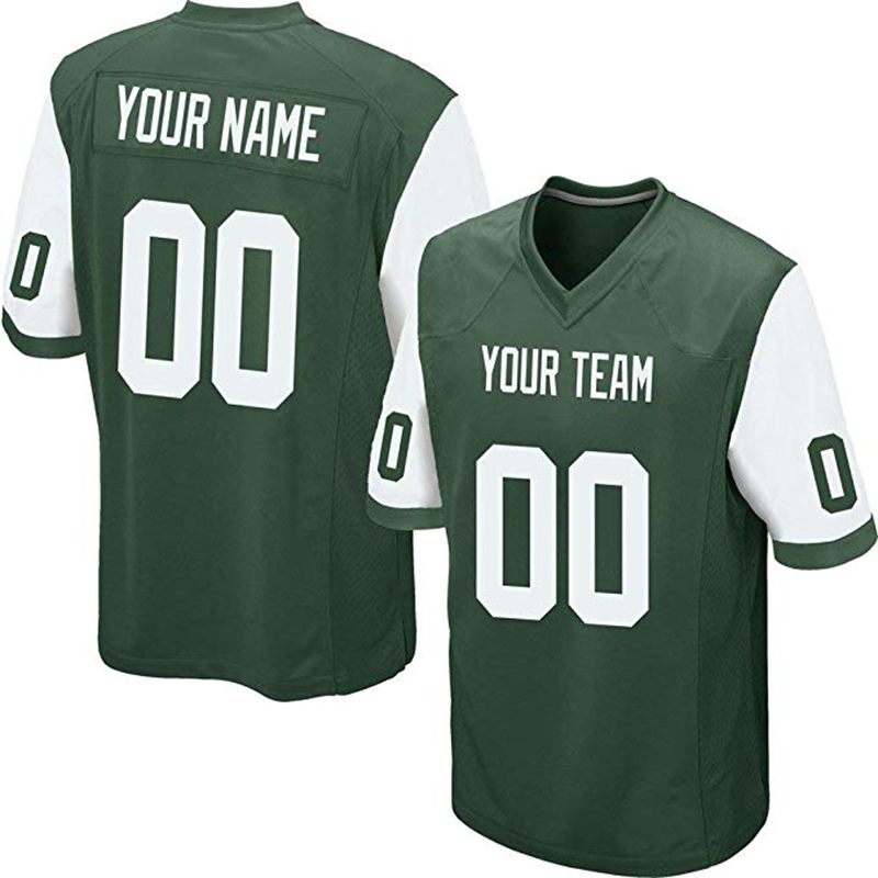 a6d551b9a77 Custom Green Mesh Replica Football Game Jersey Embroidered High School Team  Logo Name And Your Numbers Men Women Adult China OEM-in America Football  Jerseys ...