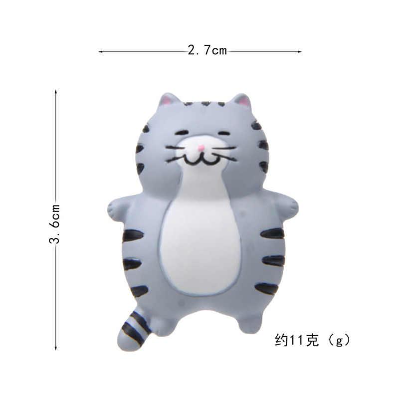 Fat Cat Etiqueta Magnética 3D Action Figure Ímã Padrão Dos Desenhos Animados Ímã de Geladeira Adesivos Crianças Brinquedo Educativo Presente de Aniversário