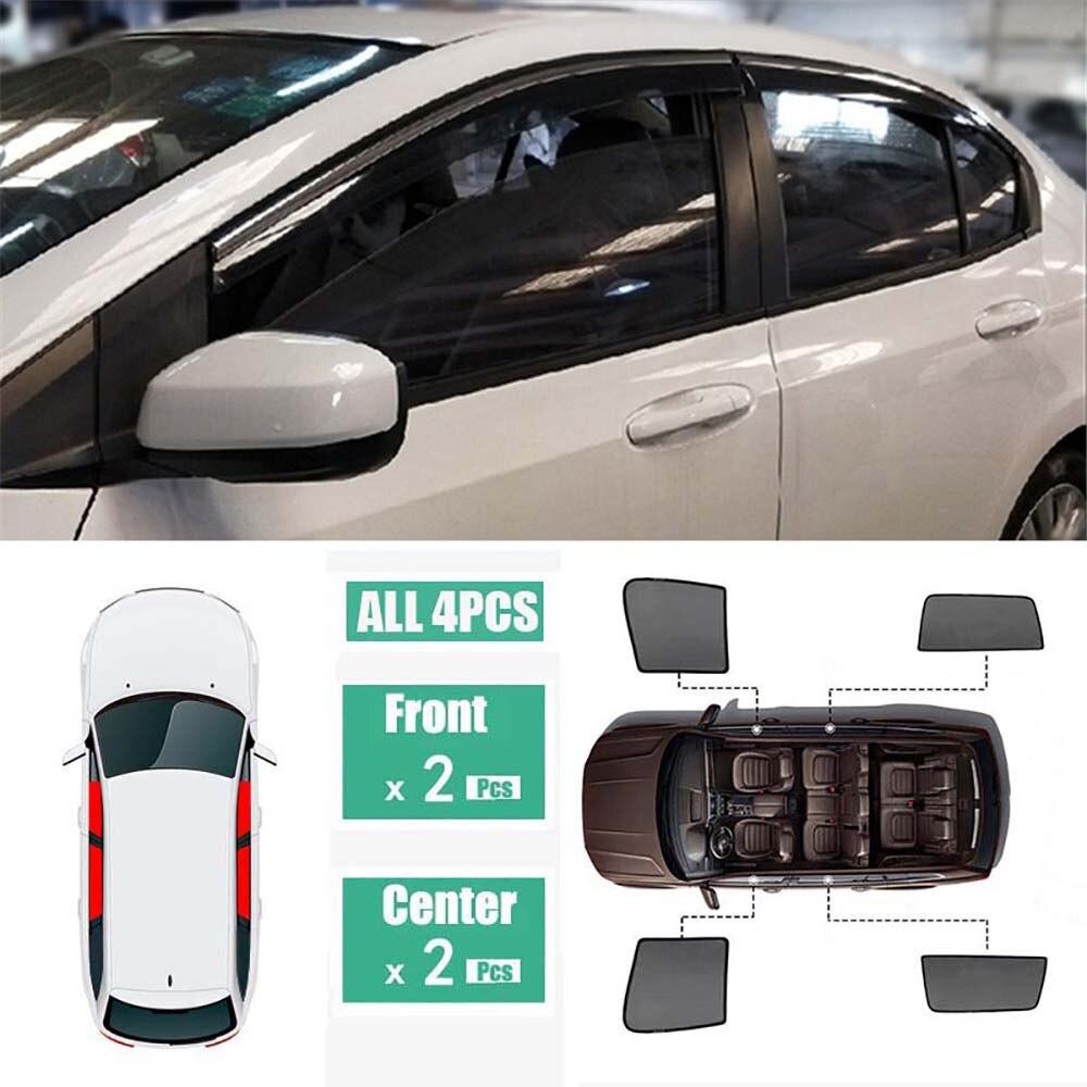Doelbewust Side Windows Magnetische Zonnescherm Uv Bescherming Ray Blokkeren Mesh Visor Fit Voor Honda City 2015-2018 Puur Wit En Doorschijnend