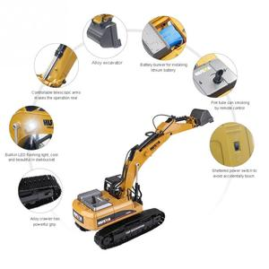 Image 5 - HUINA 1580 2.4G 1:14 23CH 3 in 1 Rc Hydraulic Excavator Electric Model Excavator Engineering Vehicle Remote Control Truck Autos