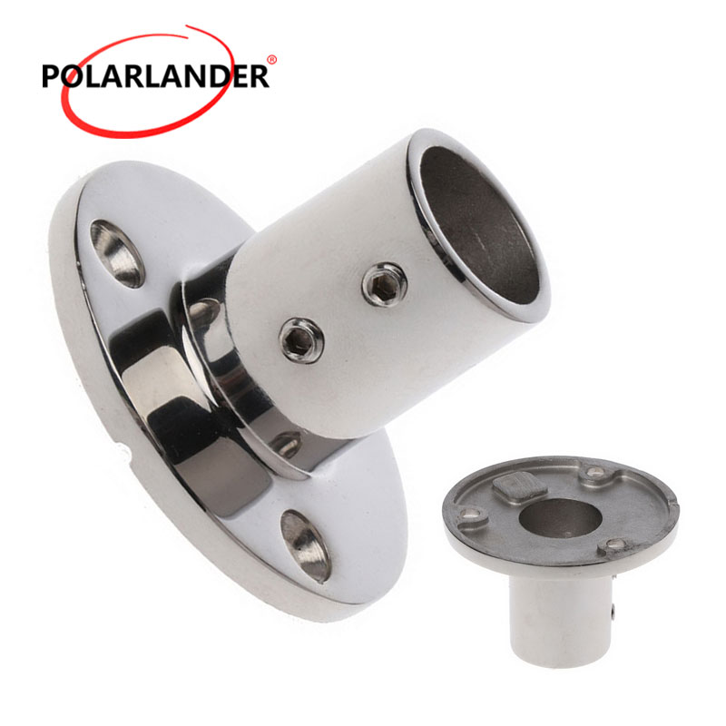 "2018 Boat Parts & Accessories Base Hardware Hand Rail Fitting 0.98""(25mm) Tube Round Marine Boat Stainless Steel 90 Degree"