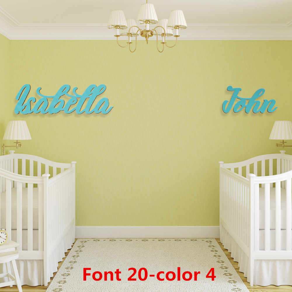 Personalized Name For Above Crib Wooden Sign Nursery