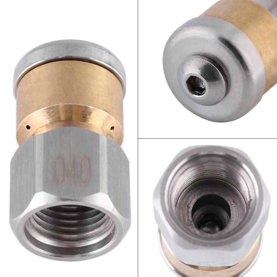 Buse de nettoyage des égouts en acier inoxydable pression tuyau de nettoyage des égouts vidange lavage buse rotative 1/4 BSP femelle de haute qualité.