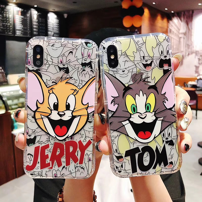 Cartoon Tom and Jerry phone case For iphone Xs case For iphone 8 plus case For iphone X XR Xs Max 6S 6 7 8 Plus Soft back cover