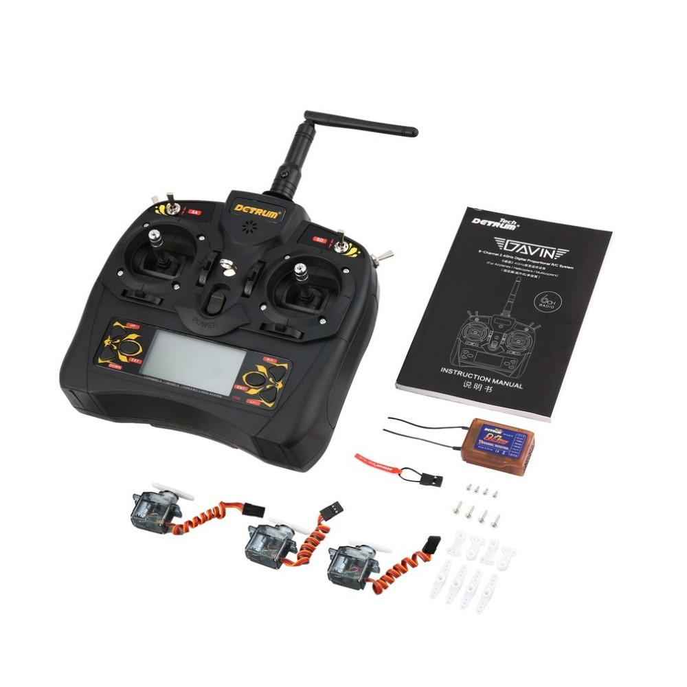 2.4G Digital Remote Control RXC7 Receiver GAVIN-6C 6-Channel with 9G Steering Gear Sets for RC Plane Boat Car2.4G Digital Remote Control RXC7 Receiver GAVIN-6C 6-Channel with 9G Steering Gear Sets for RC Plane Boat Car