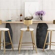 Высокое качество 45 см/68 см/85 см скандинавский барный стул креативный кофейный стул золотой высокий стул простой обеденной стул из кованого железа