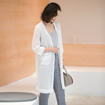 Spring and summer knitted cardigan female 2019 new arrival loose thin cardigan sunscreen knitting cardigan women M1901 cardigan 1701500 83