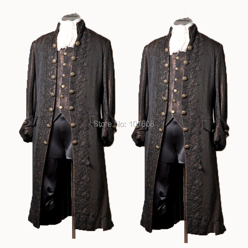 Frock Coat Mens Adult Victorian Costume Accessory Brown Jacket