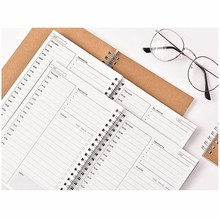 3pcs Daily Schedule Notebook Time Table To Do Planning Book