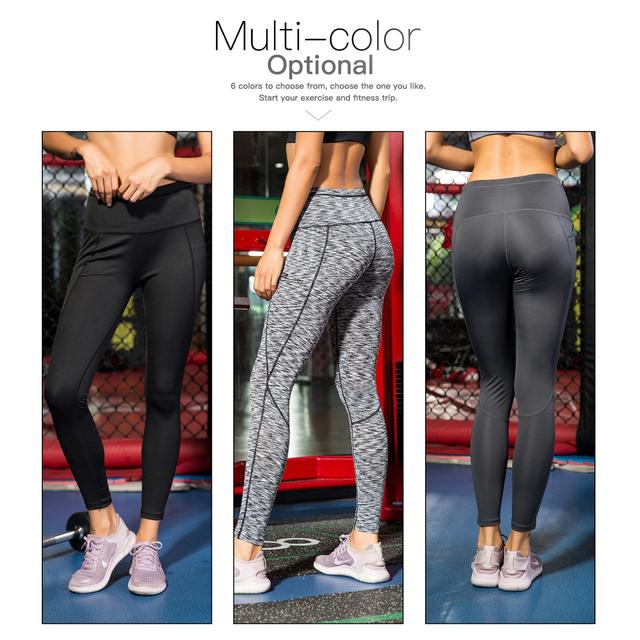 Women's Yoga / Gym  Pants Running Pants Tights  High Waist with Pocket