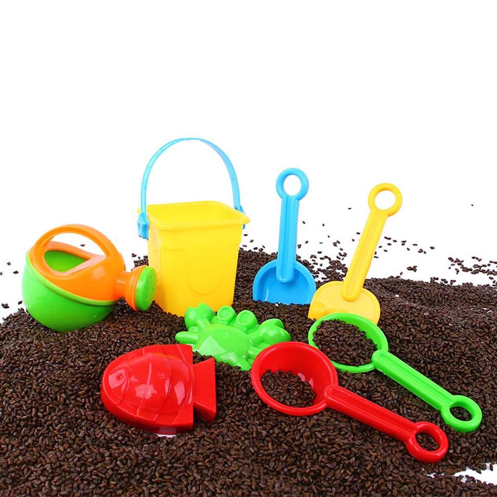 10Pcs/set Beach Toys Kids Summer Outerdoor Scoop Shovel Bucket Kettle Fish Tools Mini Interesting Children Toys
