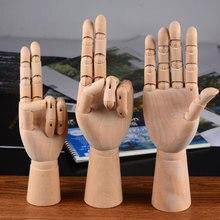 Muñeca con brazo articulado de madera ajustable modelo artesanía adornos mesa de escritorio figuritas de mano miniaturas decoración artesanías