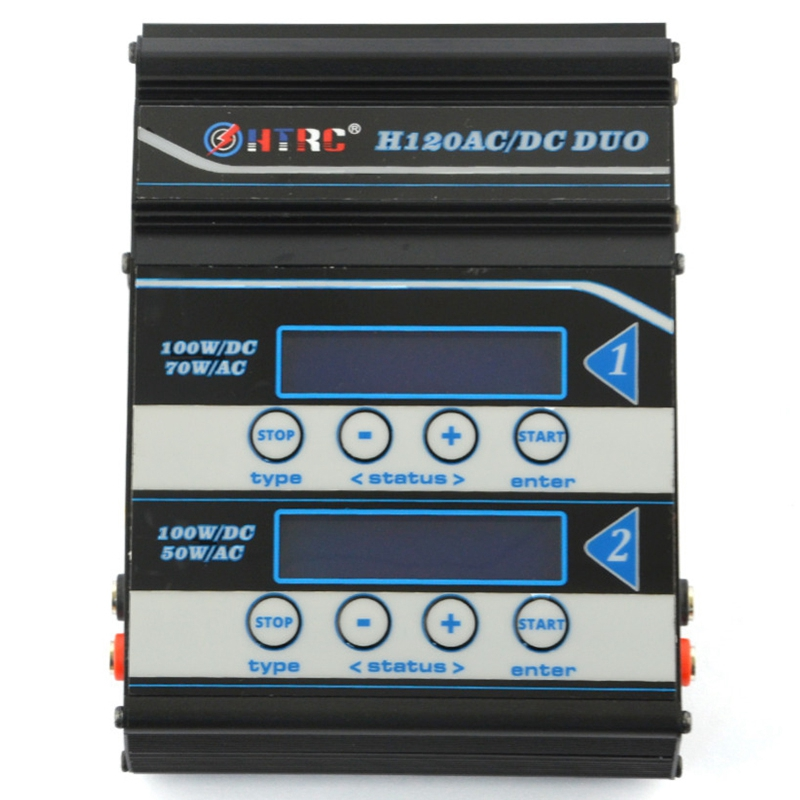 HTRC Battery Charger H120 Ac Dc Dual Ports Balance Charger Discharger For Lilon Lipo Life Lihv