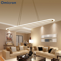 Omicron Modern Creative Led Pendant Lights White Metal Hanging Ceiling Lamp For Dining Room Living Room Restaurant Lighting