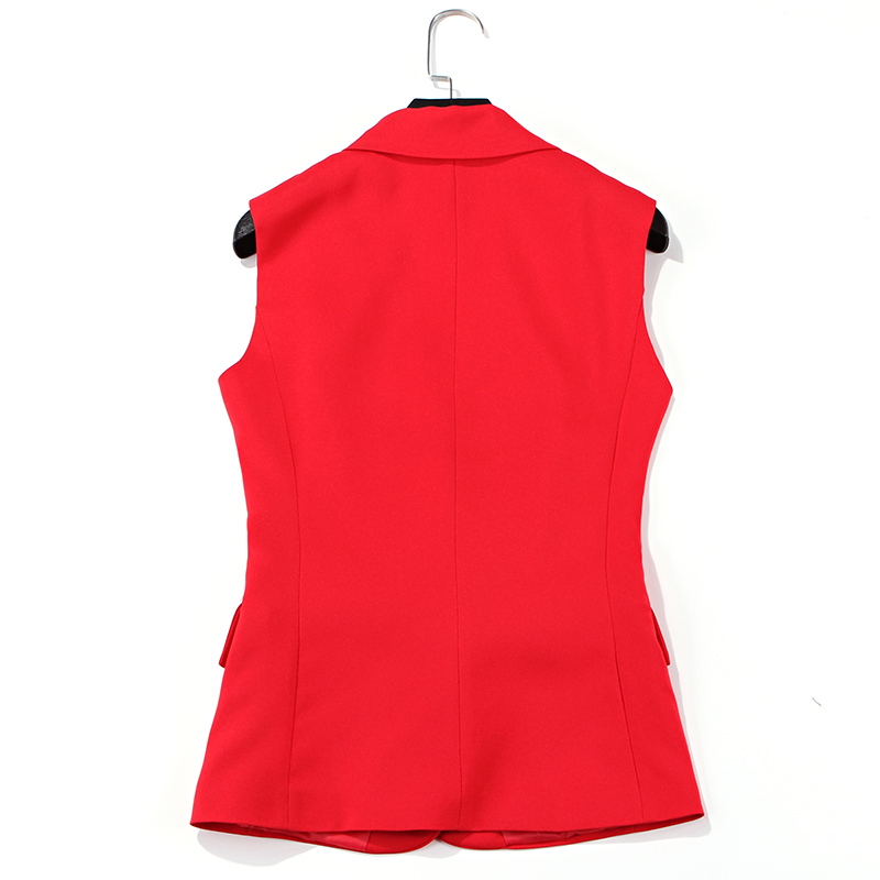 Suit vest suit female professional shorts two piece fashion casual red sleeveless jacket 2019 summer new women 39 s clothing in Pant Suits from Women 39 s Clothing