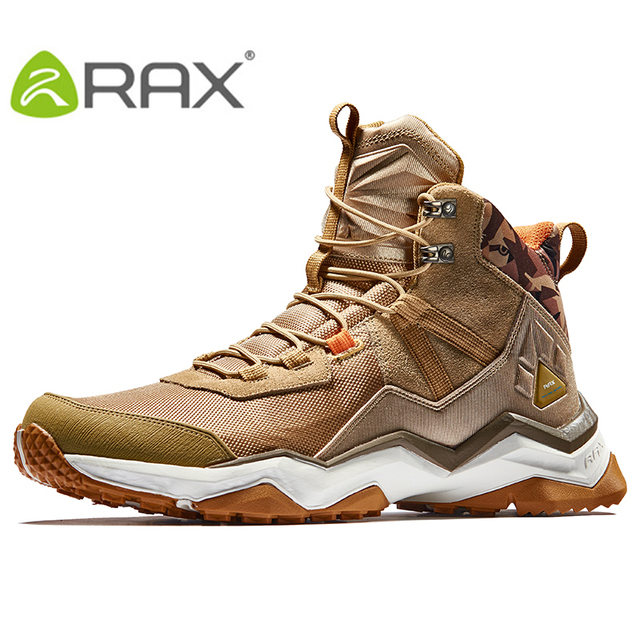 RAX Hiking Boots Men Waterproof Outdoor Sports Sneakers for Men Trekking Shoes Lightweight Breathable Multi-terrian Sports Shoes