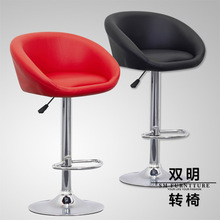 The European bar chairs high foot swivel chair cortex bar chair stool stool household lift chair shop study stool art classroom bar household furniture white black brown color