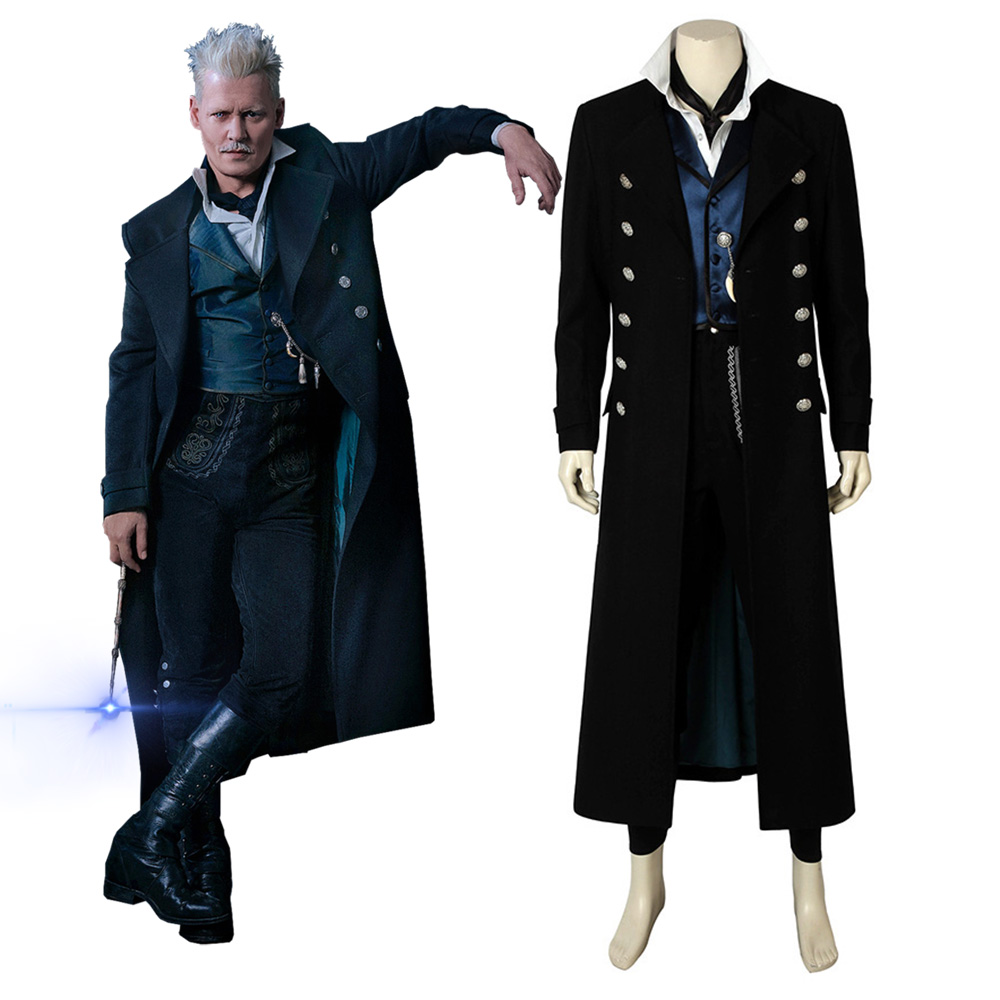 Fantastic Beasts The Crimes of Grindelwald Gellert Grindelwald Cosplay Costume Coat Men Halloween Outfit