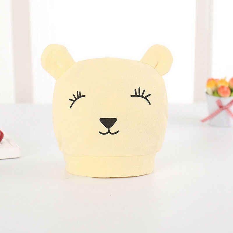 2019 חדש לגמרי פעוט יילוד ילדים תינוק ילד ילדה תינוקות כותנה רך חם סנטה כובע כפת כובע 3D דובי אוזני רך בית חולים כובע