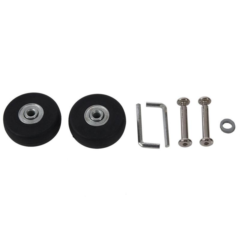 Black Rubber, Metal Luggage Repair Parts Tires Diameter 50mm