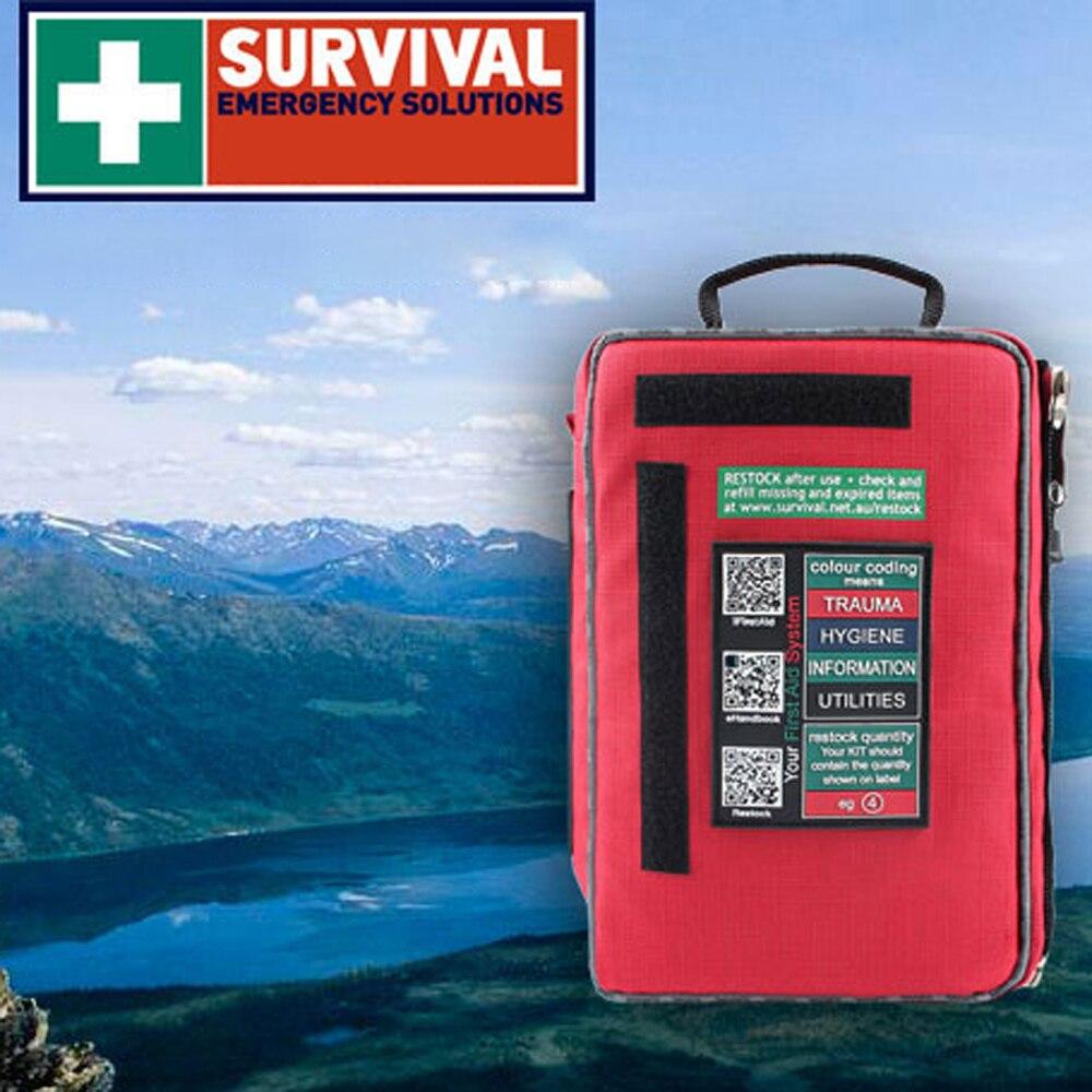 Trousse de premiers soins Portable pour la randonnée Camping en plein air sac de survie imperméable multifonctionnel voyage Kits d'urgence à domicile
