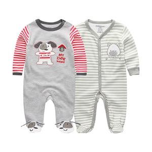 Image 2 - 2019 2 יח\חבילה Unicorn בני בגדי שטן קטן בגד גוף תינוקת בגדי יילוד Roupa דה bebe תינוק ילד בגדי כותנה