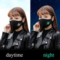 New Mouth Face Mask Dust Mask Anti Air Pollution For PM2.5 Fashion Fluorescence Sign Dustproof Mouth Bacteria Proof Mask