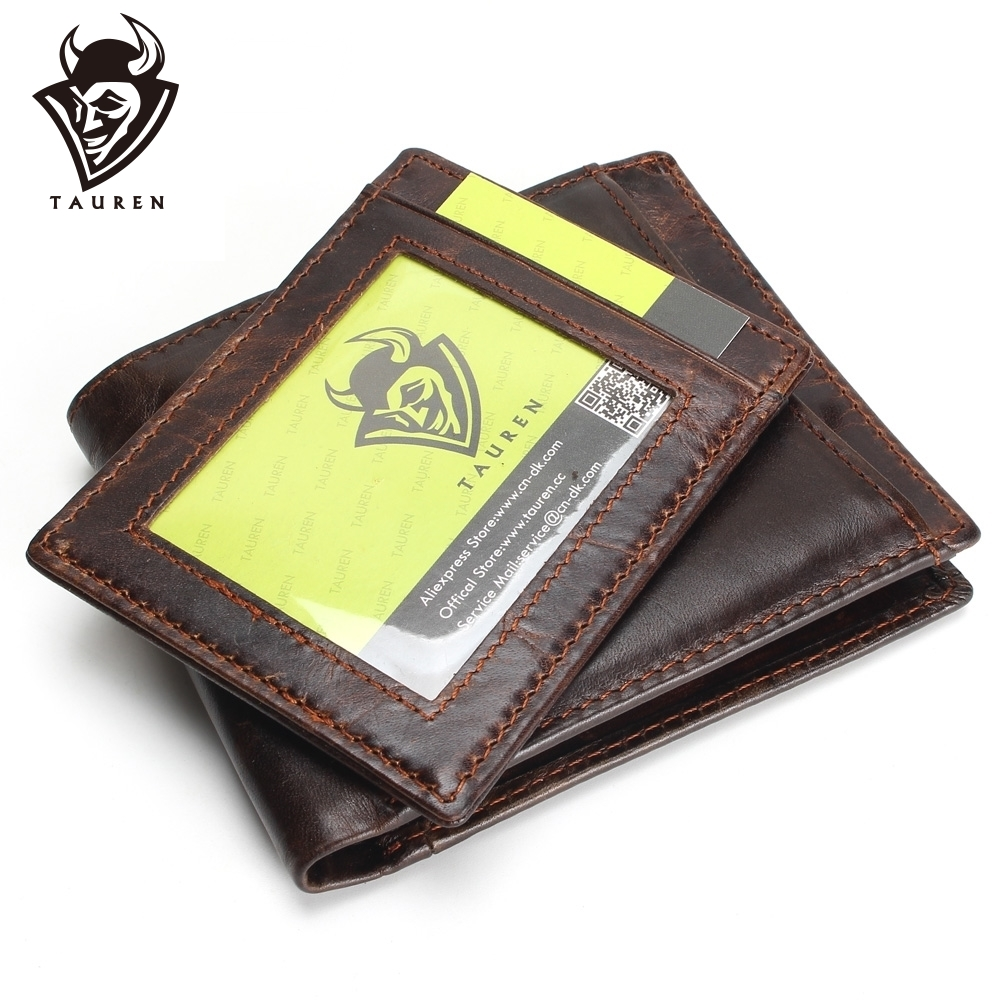 TAUREN 100% Найвища якість Натуральна шкіра Чоловіки Гаманці Мода Splice Dollar Гаманець Carteira Masculina Чоловічий гаманець Гаманець