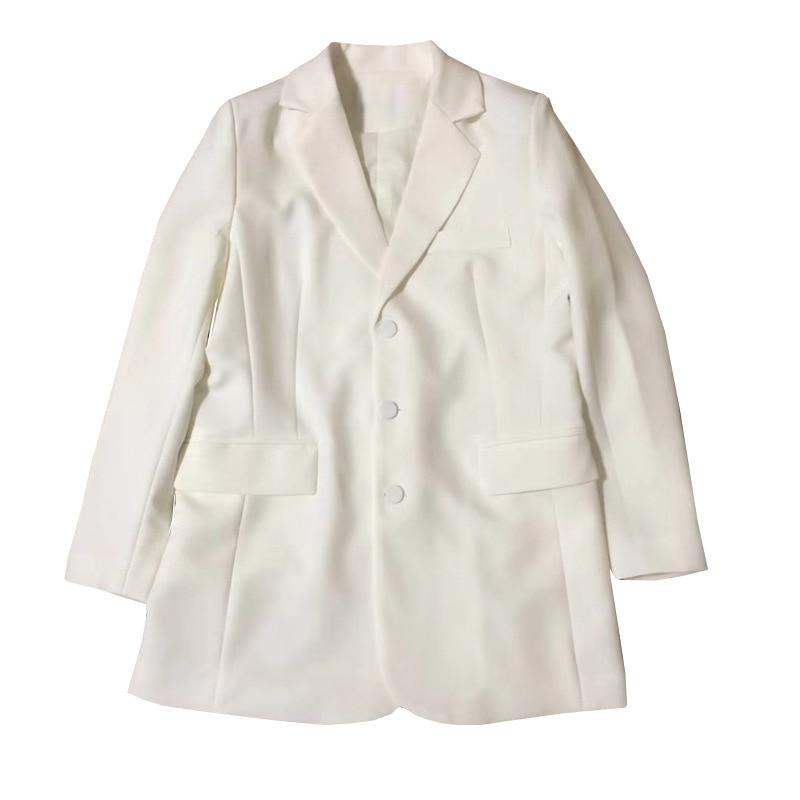 Entaillé Blazer Manches Unique Deat Femme Nouveau White Printemps Mode Pour Poitrine Vêtement De Veste 219 Pleine Wd94400m 88wvrqO