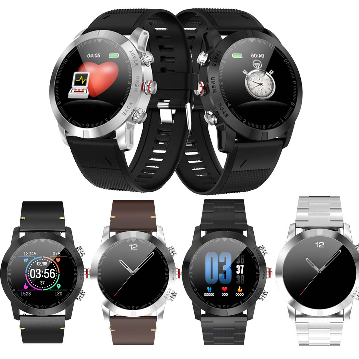 <font><b>DT</b></font> NO.1 <font><b>S10</b></font> Full TouchScreen <font><b>Smart</b></font> <font><b>Watch</b></font> Detachable Design Wristband Large Battery Caller ID Display Sport <font><b>Smart</b></font> <font><b>Watch</b></font> Bracelet image